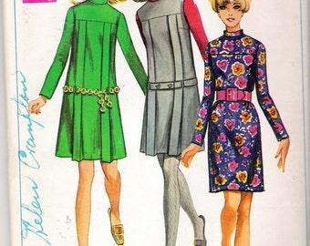 "Vintage 1968 Simplicity 7752 Dress or Jumper Sewing Pattern Size 14 Bust 36"" UNCUT"