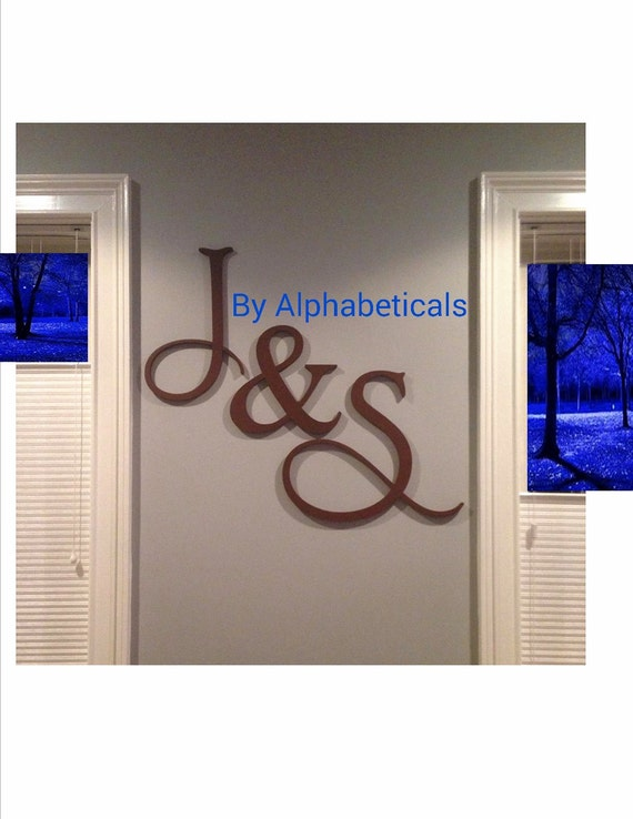 His and hers wooden letters wall decor wooden signs wall - Wood letter wall decor ...
