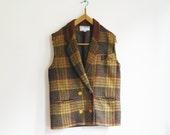 Vintage plaid Burton Jacket customised