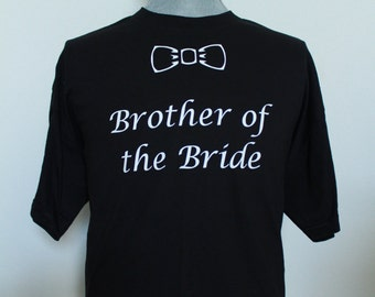 Brother of the Groom T-Shirt.  Best Man Shirt. Groom Crew Neck T-Shirt Small Medium Large XL.Brother of the Bride gift. Father of the Groom.
