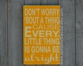 Three Little Birds Typography  Word Art Every Little Thing Everything Gonna Be Alright Don't Worry About a Thing