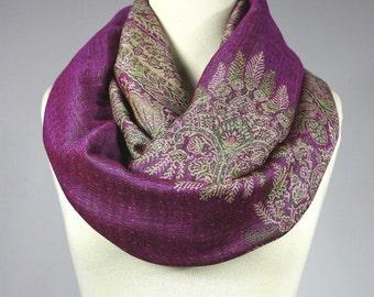 Pink scarf, winter scarf, pashmina