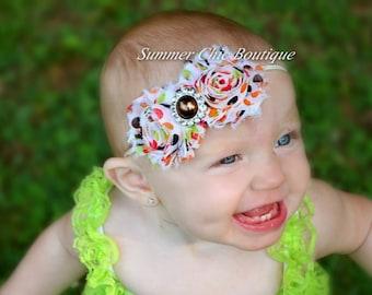 Fall Headband, Polka Dot Baby Headband, Infant Headband, Newborn Headband, Red Headband, Fall Polka Dot Baby Headband, Shabby Chic Headband