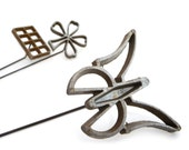 Vintage Waffle Molds - Scandinavian Rosette Irons - Set of 3 Cookie Molds - Flower Butterfly Rectangle Molds - 1960s