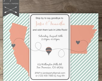 going away party invitations / goodbye party invites / moving by, Party invitations