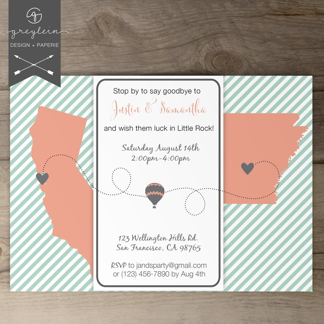 Versatile image regarding free printable going away party invitations
