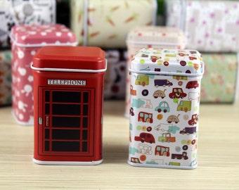 Tin Box - Storage Box - Sewing Box - Gift Packing - Gift Tins - Car - 2 styles can choose