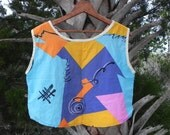Totally Awesome 1980's Sleeveless Crop Top