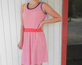 Cute 1980's Striped Knit Sundress