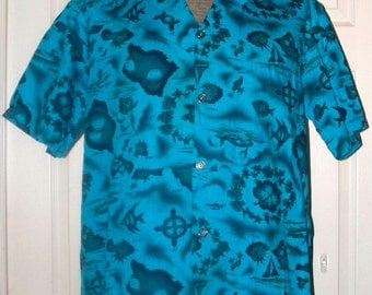 Mens Vintage 60s Ui Maikai Hawaiian Islands - Size Unmarked