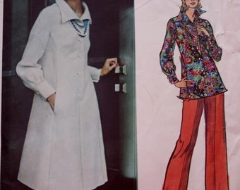 Dress /Tunic /Pants / Vogue 2828 / Couturier Designer Sewing Pattern / 1970s / Sybil Connolly / Bust 34 / UNCUT