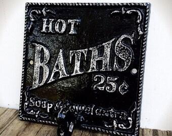 bauernhaus handtuch haken black white jahrgang bauernhaus bad sign rustikal bad - Fantastisch Badezimmereinrichtung