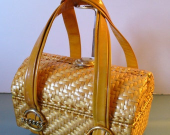 Made in Italy Rodo Wicker Lunch Box Purse