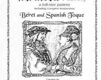 French German Beret & Spanish Toque Pattern by Queta's Closet Pat. No.101