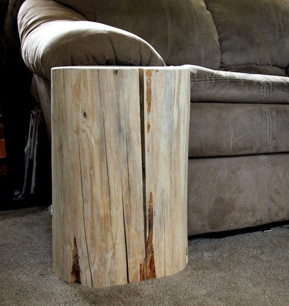 Large Tree Stump Coffee Table: Wood Stump Table Tree Stump Table Reclaimed Wood Side