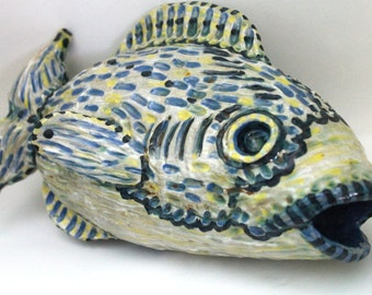 Ceramic Sculpture- Rainbow Fish