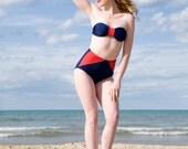 Diana Wonder  High Waist Bikini with Halter bandeau Top Two-Piece