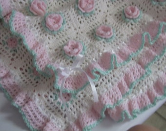 Sweet Rose Baby Blanket