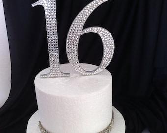 Bling Sweet 16 Cake Topper