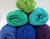 Planet Penny Cotton Colours Yarn - Pack of 6 Colours -Shadows Selection - HALF PACK