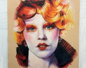 Effie Trinket Prisma Colored Pencil Portrait: One of a Kind Reese Hilburn Art
