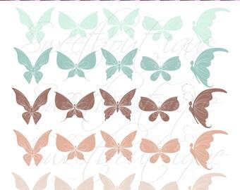 Butterflies Clip Art Butterfly Clipart Digital Clip Art Digital Butterfly Scrapbook Butterfly Element Buy 3 get 1 free clipart 0047
