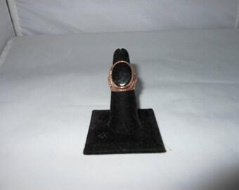 Goldstone Copper Ring