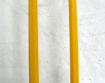 Pair Beeswax Hexagonal Taper Candles Hand Crafted By The Beekeeper