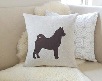 Norwegian Elkhound Pillow Cover - Custom Colors