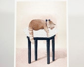 Meow - 18x24cm/illustration / art print /
