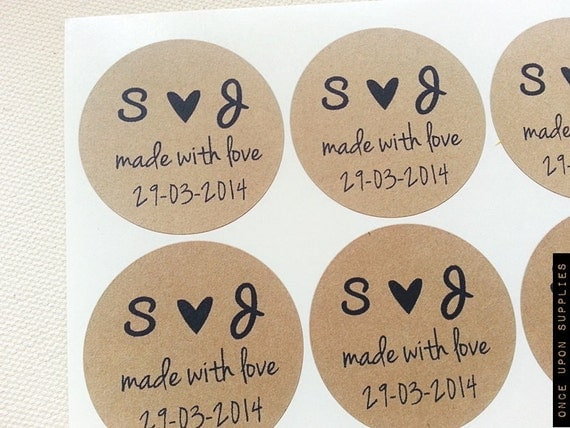60 custom wedding favor labels stickers seals personalized wedding