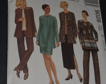 McCall's 9029 Misses Unlined Jacket Top pull on pants and skirt in two lengths Sewing Pattern - Sizes 12 14 16