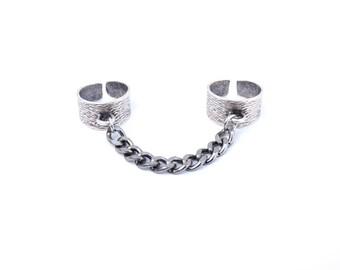 Silver Handcuff Ring