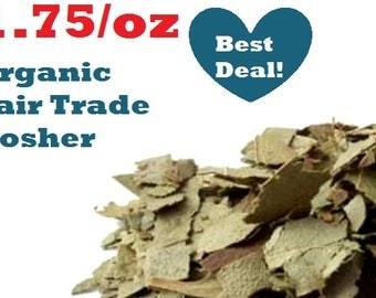 Organic EUCALYPTUS LEAF -1oz- Eucalyptus globulus, fair trade, kosher, non-GMO natural insect repellant