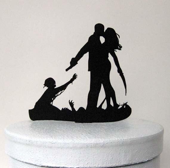 Like this item? - Wedding Cake Topper Halloween Wedding Cake Topper
