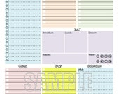 Personal Organizer - EDITABLE - Daily planner, weekly planner, to do, checklist - INSTANT DOWNLOAD