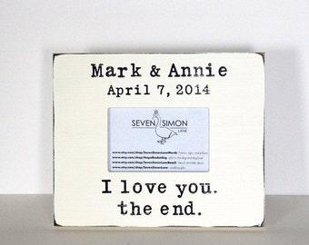 wedding frame, personalized wedding frame, I love you, wedding gift