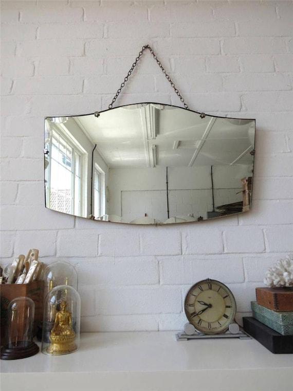 Bordo bisellato vintage parete specchio art deco smussatura - Specchio ovale vintage ...