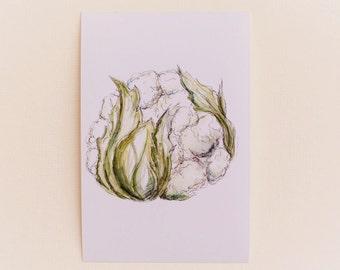 Cauliflower Print OR Any 1 Vegetable Print