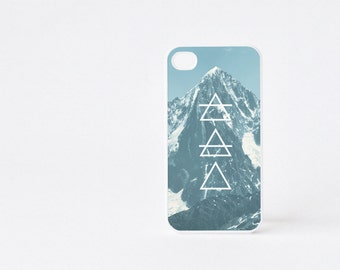 Blue Mountain iPhone 4 Case - Geometric iPhone 4s Case - Mountain Print iPhone 5 Case - Geometric iPhone Case - Accessories for iPhone 5s