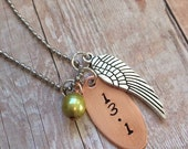 Running Distance with Wing Necklace, Perfect Stocking Stuffer for Runners!