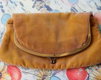 Vintage 1950s Mel Ton Brand Fold-Over Clutch Purse