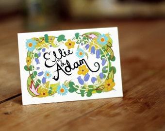 Bespoke Calligraphy Wedding Invite
