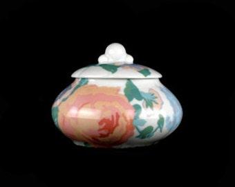 Vintage Victoria Covered Sugar Bowl Towle Royal Limoges-France