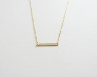 Thin Gold Bar Necklace, Bar Necklace, Bridesmaid Necklace, Gold Bar Necklace, Bridesmaid Gift, Dainty Necklace, Bridesmaid Jewelry
