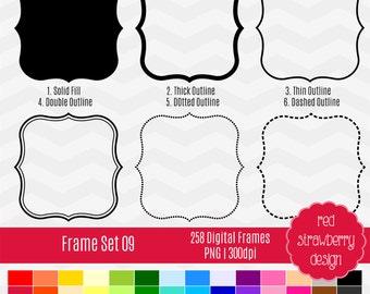 75% OFF Sale - Frame Set 09 - 258 Digital Clip Art - Instant Download - PNG (CA139)