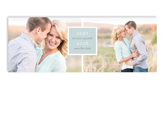 Save The Date Facebook Cover - Engagement Announcement - Ben & Kate - 1276