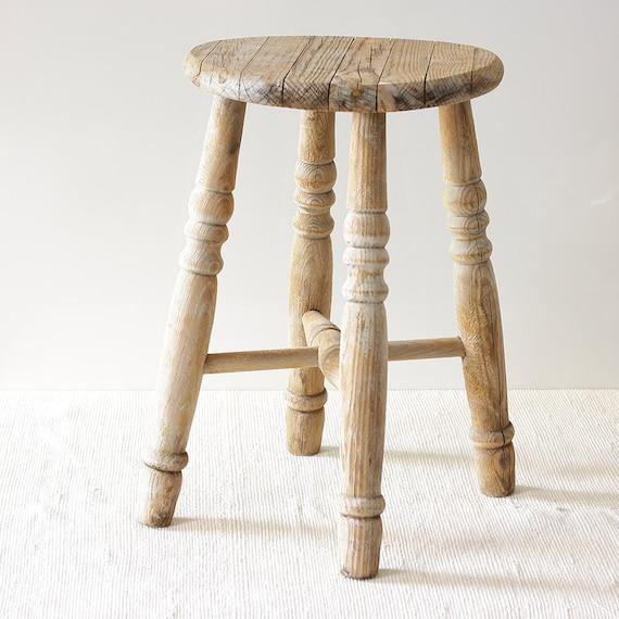 Vintage wooden stool by butanika on etsy