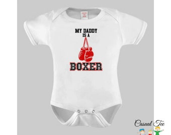 My Daddy is a Boxer Bodysuit  / Toddler Tshirt / Kids T Shirt, Boxing Baby, Baby Boy Clothes, Baby Girl Clothes, Gender Neutral