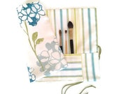 Artist Paint Brush Roll Blue Green Watercolour - EJCDezines